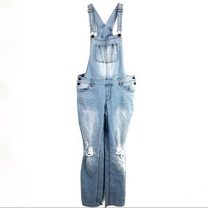Mossimo Denim Overalls Size Medium Distressed